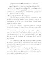 PHƯƠNG HƯỚNG VÀ MỘT SỐ GIẢI PHÁP MỞ RỘNG THỊ TRƯỜNG TIÊU THỤ SẢN PHẨM CỦA CÔNG TY CHẾ TẠO ĐIỆN CƠ HÀ NỘI
