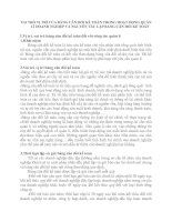 VAI TRÒ VỊ TRÍ CỦA BẢNG CÂN ĐỐI KẾ TOÁN TRONG HOẠT ĐỘNG QUẢN LÍ DOANH NGHIỆP VÀ NGUYÊN TẮC LẬP BẢNG CÂN ĐỐI KẾ TOÁN
