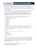 Migration Roles and Responsibilities
