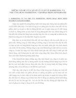 NHỮNG VẤN ĐỀ LÝ LUẬN VỀ LÝ LUẬN VỀ MARKETING  VÀ VIỆC ỨNG DỤNG MARKETING  VÀO HOẠT ĐỘNG KINH DOANH