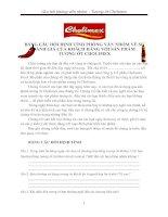 BẢNG CÂU HỎI ĐỊNH TÍNH PHỎNG VẤN NHÓM VỀ SỰĐÁNH GIÁ CỦA KHÁCH HÀNG VỚI SẢN PHẨM TƯƠNG ỚT CHOLIMEX