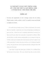 LUYỆN KỸ NĂNG VIẾT TIẾNG ANH 155 -CHỦ ĐỀ VIẾT LUẬN TIẾNG ANH 44