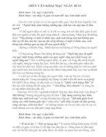 DIẼN VĂN KHAI MẠC NGÀY 20-11