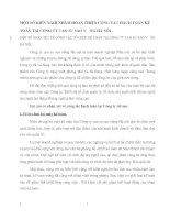 MỘT SỐ KIẾN NGHỊ NHẰM HOÀN THIỆN CÔNG TÁC HẠCH TOÁN KẾ TOÁN TẠI CÔNG TY CAO SU SAO VàNG HÀ NỘI
