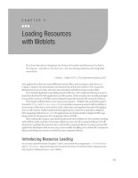 Loading Resources with Weblets