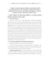 THỰC TRẠNG HOẠT ĐỘNG ĐẢM BẢO TIỀN VAY BẰNG TÀI SẢN CẦM CỐ  THẾ CHẤP CỦA KHÁCH HÀNG VAY TẠI SỞ GIAO DỊCH I  NGÂN HÀNG CÔNG THƯƠNG VIỆT NAM