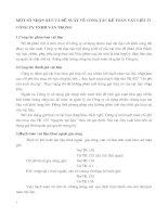 MỘT SỐ NHẬN XÉT VÀ ĐỀ XUẤT VỀ CÔNG TÁC KẾ TOÁN VẬT LIỆU Ở CÔNG TY TNHH VĂN TRỌNG