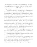 PHƯƠNG HƯỚNG HOÀN THỆN KẾ TOÁN TIÊU THỤ VÀ XÁC ĐỊNH KẾT QUẢ KINH DOANH Ở CÔNG TY TNHH  THƯƠNG MẠI DỊCH VỤ Á PHI LONG