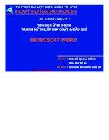 Bài giảng điện tử tin học ứng dụng trong địa chất - dầu khí microsoft word