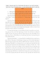 THỰC TRẠNG QUẢN LÝ RỦI RO TÍN DỤNG TẠI NGÂN HÀNG THƯƠNG MẠI CỔ PHẦN BẮC Á CHI NHÁNH HÀ NỘI