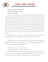Chương trình văn nghệ tặng thầy cô nhân 20-11