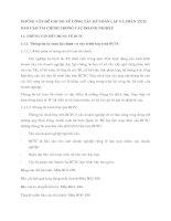 NHỮNG VẤN ĐỀ CHUNG VỀ CÔNG TÁC KẾ TOÁN LẬP VÀ PHÂN TÍCH BÁO CÁO TÀI CHÍNH TRONG CÁC DOANH NGHIỆP