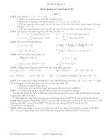 kho đề ôn thi học kì 1 (toán 12)