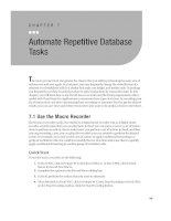 Automate Repetitive Database Tasks