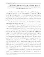 MỘT SỐ BIỆN PHÁP NHẰM TĂNG THU NHẬP TIẾT KIỆM  CHI PHÍ NÂNG CAO KẾT QUẢ KINH DOANH  CỦA HỘI SỞ CHÍNH NGÂN HÀNG KỸ THƯƠNG VIỆT NAM
