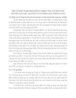 MỘT SỐ KIẾN NGHỊ NHẰM HOÀN THIỆN CÔNG TÁC KẾ TOÁN NGUYÊN VẬT LIỆU TẠI CÔNG TY CỔ PHẦN GIẦY THĂNG LONG