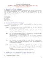 chuẩn kiến thức tiếng Anh 7
