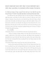 HOÀN THIỆN KẾ TOÁN TIÊU THỤ VÀ XÁC ĐỊNH KẾT QUẢ TIÊU THỤ TẠI CÔNG TY CỔ PHẦN CÔNG NGHỆ ỨNG DỤNG