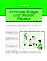 Private blogs and public places
