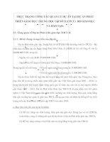 THỰC TRẠNG CÔNG TÁC QUẢN LÝ DỰ ÁN TẠI DỰ ÁN PHÁT TRIỂN GIÁO DỤC TRUNG HỌC CƠ SỞ II (CPCU)  BỘ GIÁO DỤC VÀ ĐÀO TẠO