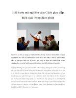 Hài hước mà nghiêm túc: Cách giao tiếp hiệu quả trong đàm phán