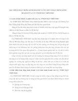ĐẶC ĐIỂM HOẠT ĐỘNG KINH DOANH VÀ TỔ CHỨC HOẠT ĐỘNG KINH DOANH CỦA CTY TNHH MẶT TRỜI MỌC