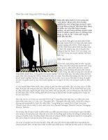 Phác thảo chân dung một CEO chuyên nghiệp