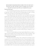 MỘT SỐ KIẾN NGHỊ NHẰM HOÀN THIỆN CÔNG TÁC KẾ TOÁN NGUYÊN VẬT LIỆU VỚI VIỆC NÂNG CAO HIỆU QUẢ SỬ DỤNG NGUYÊN VẬT LIỆU TẠI CÔNG TY CƠ KHÍ NGÔ GIA TỰ