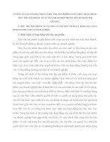CƠ SỞ LÝ LUẬN VỀ HOẠT ĐỘNG TIÊU THỤ SẢN PHẨM VÀ TỔ CHỨC HOẠT ĐỘNG TIÊU THỤ SẢN PHẨM  Ở CÁC DOANH NGHIỆP TRONG NỀN KINH TẾ THỊ TRƯỜNG