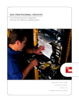 ADC PROFESSIONAL SERVICES Commissioning and Integration Services for Network Deployments