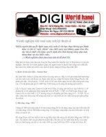 Kinh nghiệm chọn mua máy ảnh kỹ thuật số