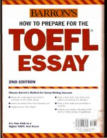 How to prepare for the toefl essay 2nd edition part 1