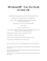 WindowsXP • Các thủ thuật và mẹo vặt