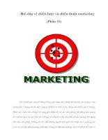 Hỏi đáp về chiến lược và chiến thuật marketing (Phần 10)