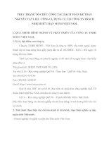 THỰC TRẠNG TỔ CHỨC CÔNG TÁC HẠCH TOÁN KẾ TOÁN NGUYÊN VẬT LIỆU  CÔNG CỤ DỤNG CỤ TẠI CÔNG TY TRÁCH NHIỆM HỮU HẠN SEIYO VIỆT NAM
