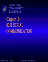 Chapter 10: 8051 SERIAL COMMUNICATION