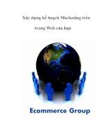Xây dựng kế hoạch Marketing trên trang Web của bạn