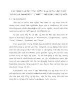 VAI TRÒ CỦA CÁC TỔNG CÔNG XÂY DỰNG VIỆT NAM VỚI HOẠT ĐỘNG ĐẦU TƯ PHÁT TRIỂN KHU ĐÔ THỊ MỚI