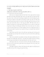 LÝ LUẬN VỀ HỆ THỐNG QUẢN TRỊ CHẤT LƯỢNG TRONG DOANH NGHIỆP