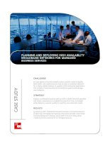 PLANNING AND DEPLOYING HIGH AVAILABILITY BROADBAND NETWORKS FOR MANAGED BUSINESS SERVICES