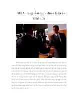 MBA trong tầm tay - Quản lí dự án (Phần 3)