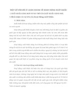 MỘT SỐ VẤN ĐỀ LÝ LUẬN CHUNG VỀ HOẠT ĐỘNG XUẤT KHẨU
