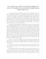TƯ TƯỞNG CỦA LÊNIN VỀ CHUYÊN CHÍNH VÔ SẢN VÀ Ý NGHĨA CỦA VẤN ĐỀ NÀY TRONG GIAI ĐOẠN HIỆN NAY