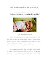 Những thắc mắc thường gặp khi chăm sóc bé (Phần 2)