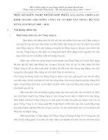 MỘT SỐ KIẾN NGHỊ NHẰM GÓP PHẦN XÂY DỰNG CHIẾN LƯỢC KINH DOANH CHO TỔNG CÔNG TY CƠ KHÍ XÂY DỰNG- BỘ