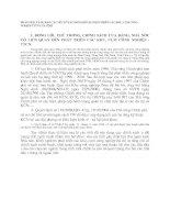 PHÂN TÍCH VÀ DỰ BÁO CÁC YẾU TỐ TÁC ĐỘNG ĐẾN SỰ PHÁT TRIỂN CÁC KHU, CỤM CÔNG NGHIỆP-TTCN CỦA TỈNH