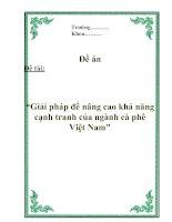 """Đề án """"Giải pháp để nâng cao khả năng cạnh tranh của ngành cà phê Việt Nam"""