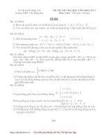 Thi thử ĐH môn Toán đợt 1+2_THPT Trần Hưng Đạo Hưng Yên [2009-2010]