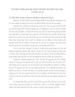 TỔ CHỨC CÔNG TÁC KẾ TOÁN CHI TIẾT NGUYÊN VẬT LIỆU