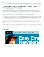15 effective email marketing online tools to promote your business